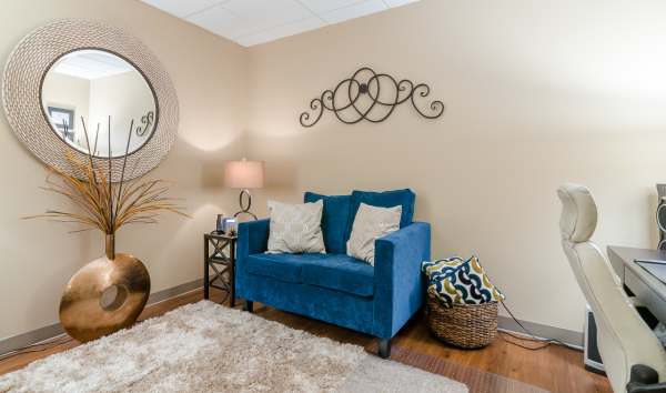 One of our many beautiful therapy rooms.